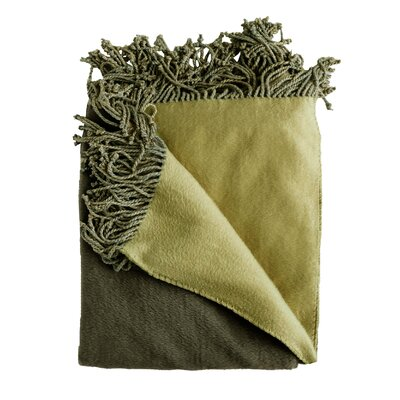 Bonnie Throw Blanket Color: Olive/Green
