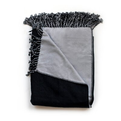 Bonnie Throw Blanket Color: Charcoal/Slate