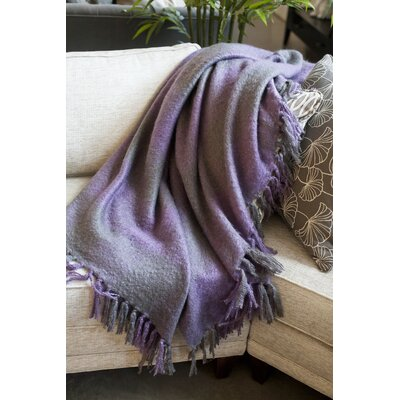 Annette Faux Mohair Throw Color: Plum