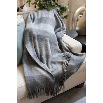 Annette Faux Mohair Throw Color: Grey