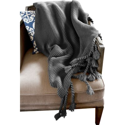 Europa Throw Blanket Color: Grey