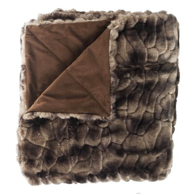 Caribou Faux Fur Throw