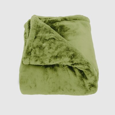 Oh So Soft Blanket Color: Moss