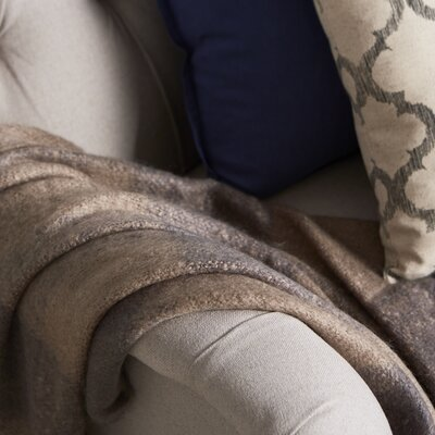 Annette Faux Mohair Throw Color: Taupe