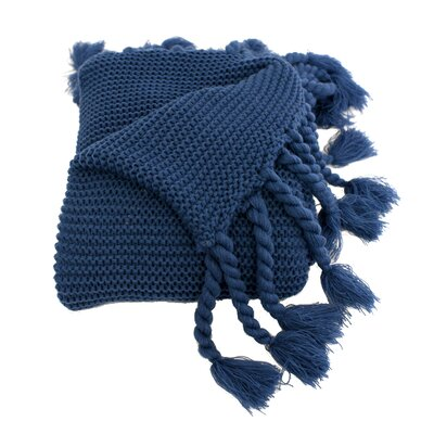 Europa Throw Blanket Color: Navy