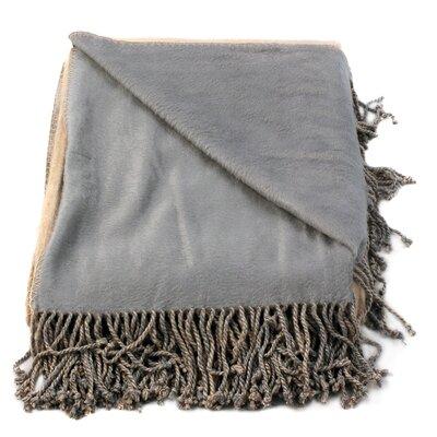 Bonnie Throw Blanket Color: Camel/Sky