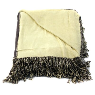 Bonnie Throw Blanket Color: Gray/Yellow