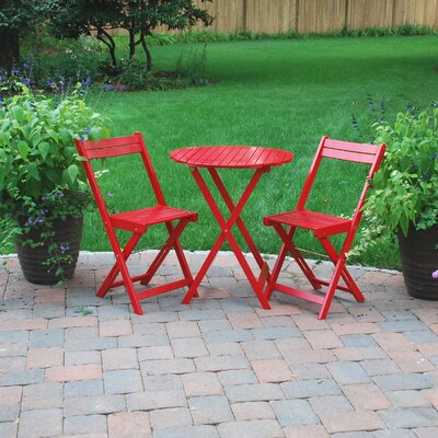 Outdoor Bistro Sets on Atlantic Outdoor Bistro Set In Red Best Price