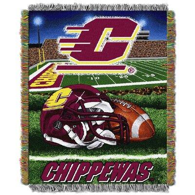 Collegiate Central Michigan HFA Woven Tapestry Throw