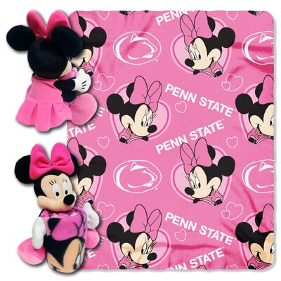 NCAA Penn State Nittany Lions Minnie Hugger Polyester Fleece Throw