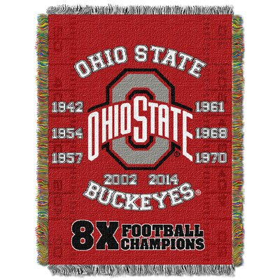 Collegiate Ohio State Commemorative Series Woven Tapestry Throw