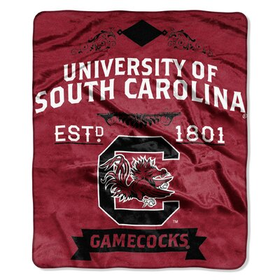 Collegiate South Carolina Label Raschel Throw