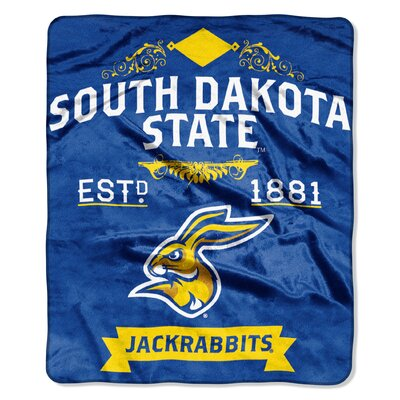 Collegiate South Dakota State Label Raschel Throw