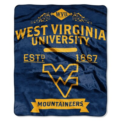 Collegiate West Virginia Label Raschel Throw
