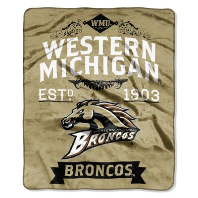 Collegiate Western Michigan Label Raschel Throw