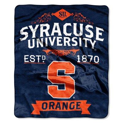Collegiate Syracuse Label Raschel Throw