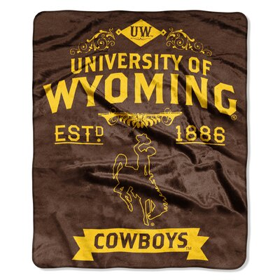 Collegiate Wyoming Label Raschel Throw