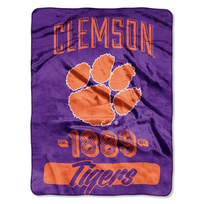 Collegiate Clemson Varsity Raschel Throw