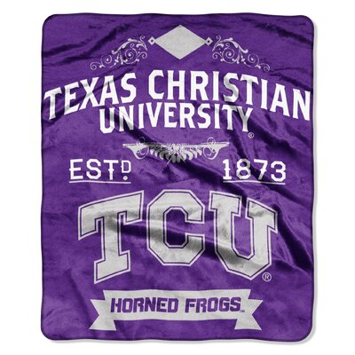 Collegiate Texas Christian Label Raschel Throw