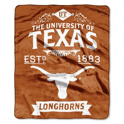 Collegiate Texas Label Raschel Throw