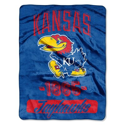 Collegiate Kansas Varsity Raschel Throw