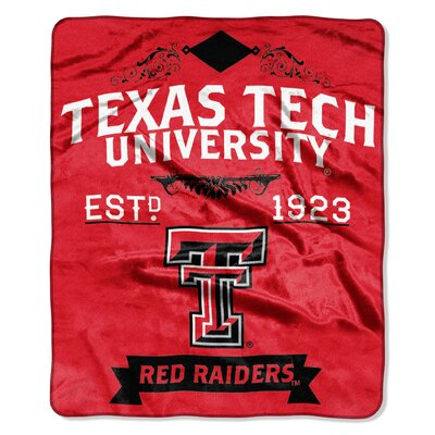 Collegiate Texas Tech Label Raschel Throw