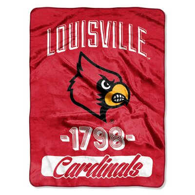 Collegiate Louisville Varsity Raschel Throw