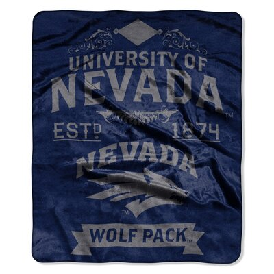 Collegiate Nevada Reno Label Raschel Throw