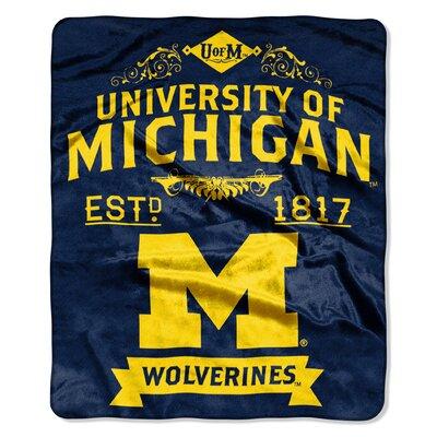 Collegiate Michigan Label Raschel Throw