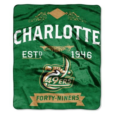Collegiate UNC Charlotte Label Raschel Throw