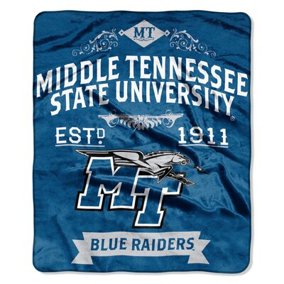 Collegiate Middle Tennessee State Label Raschel Throw