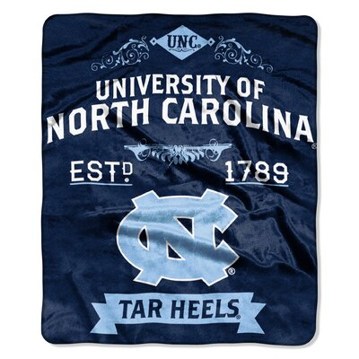 Collegiate UNC Label Raschel Throw