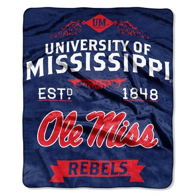 Collegiate Mississippi Label Raschel Throw