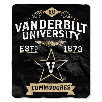Collegiate Vanderbilt Label Raschel Throw