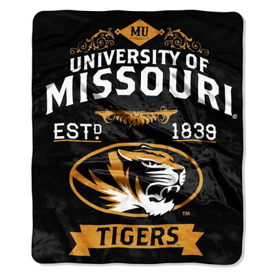Collegiate Missouri Label Raschel Throw