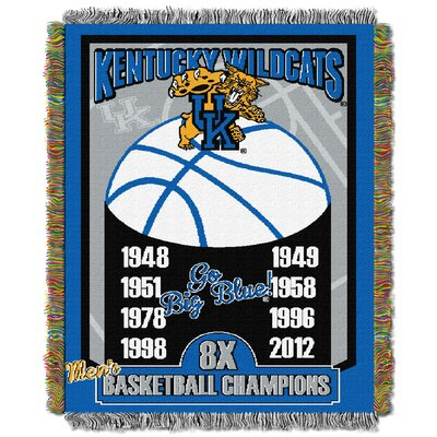 Collegiate Kentucky Commemorative Series Woven Tapestry Throw