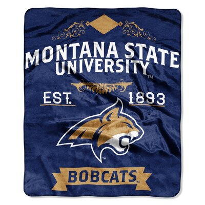 Collegiate Montana State Label Raschel Throw