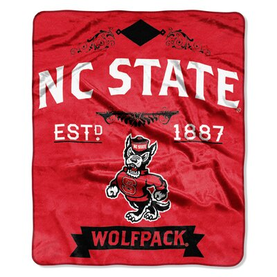 Collegiate NC State Label Raschel Throw