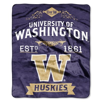 Collegiate Washington Label Raschel Throw