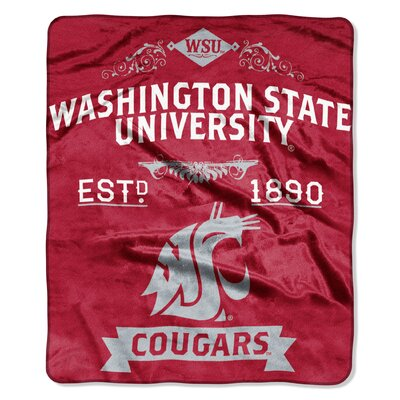 Collegiate Washington State Label Raschel Throw