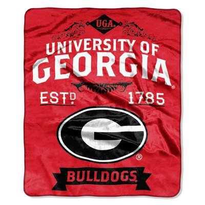Collegiate Georgia Label Raschel Throw