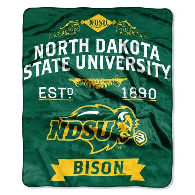 Collegiate North Dakota State Label Raschel Throw