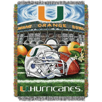 Collegiate Miami HFA Woven Tapestry Throw