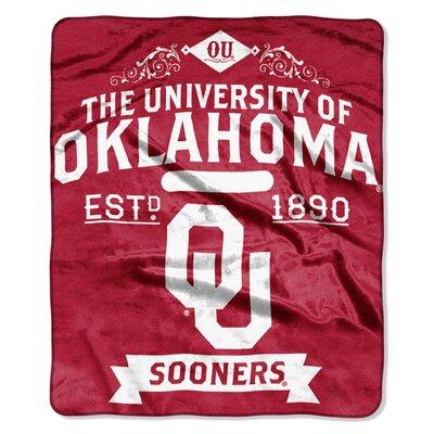 Collegiate Oklahoma Label Raschel Throw