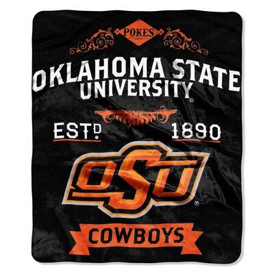 Collegiate Oklahoma State Label Raschel Throw
