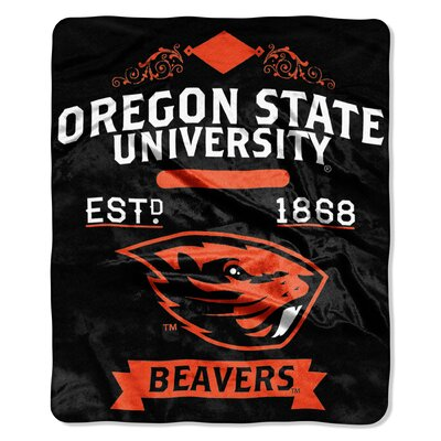 Collegiate Oregon State Label Raschel Throw
