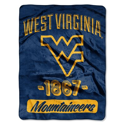 Collegiate West Virginia Varsity Raschel Throw