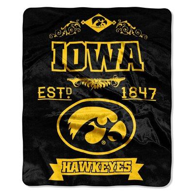 Collegiate Iowa Label Raschel Throw
