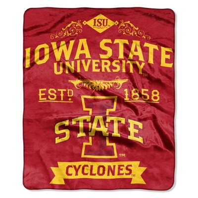 Collegiate Iowa State Label Raschel Throw