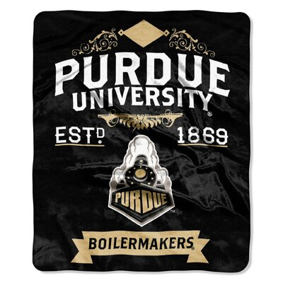 Collegiate Purdue Label Raschel Throw